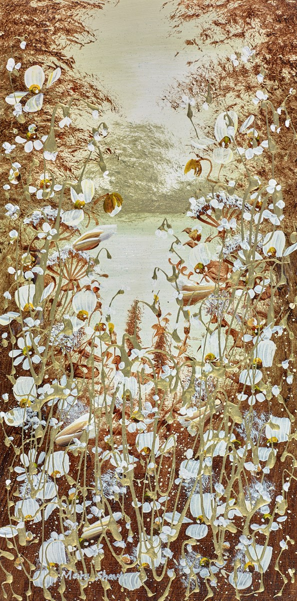 The Hidden Pond I by mary shaw -  sized 8x16 inches. Available from Whitewall Galleries